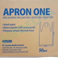 Apron / Celmek Plastik Panjang / Apron One Onemed Isi 50 Lembar