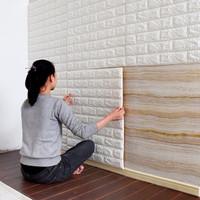 Wallpaper Dinding Bata 3D 70 x 77cm Wallpaper keren