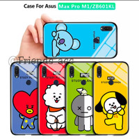 PREMIUM CASE CASING GLASS MOTIF 2 BTS BT21 FOR ASUS ZENFONE MAX PRO M1