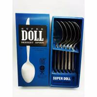 Sendok Garpu Makan Super Doll Stainless Steel 1 Dus Isi 6pcs Original