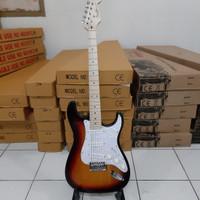 gitar listrik fender murah stratocaster sunburst bandung