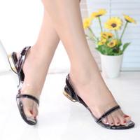 Sepatu Sandal Tali Wanita Sendal Jepit Kulit KQN18