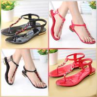 Sepatu Sandal Tali Wanita Sendal Jepit Kulit KQN14