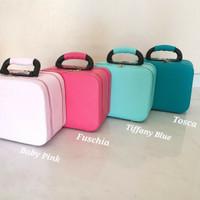 Koper Make Up Beauty Case Kotak Rias Tas Kosmetik Makeup Box Kecil - Fuschia
