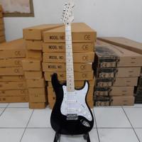 gitar listrik murah fender stratocaster hitam bandung