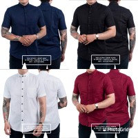 Baju Kemeja Polos Lengan Pendek Slimfit | pakaian Cowok Murah