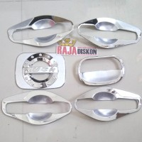 outer handle mangkok pintu rush + tank cover model chrome paketan