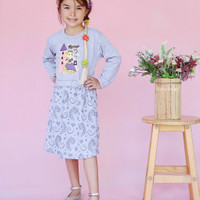 dress anak perempuan princess shari hari lucu