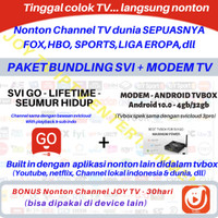 PAKET SVI GO LIFETIME + ANDROID 10.0 TVBOX SVICLOUD 3PRO 4GB/32GB IPTV