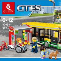 LEGO CITY COMPATIBLE LEPIN 02078 BUS STATION