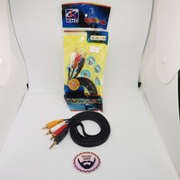 KABEL AUX 3.5MM TO 3 RCA MALE 1.5 METER