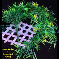 Bunga Plastik/Daun Rambat/Rumput Plastik/Busa Bunga/Bambu Bali WJ