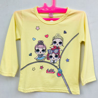 Baju Kaos Anak Perempuan Lengan Panjang LOL Surprise Hello Kitty 5 Thn