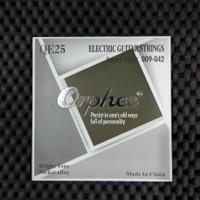 Orphee QE25 - Senar Gitar Elektrik Murah Super Light 009 - 042