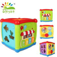 Shiyan] mainan bayi box puzzle dengan music bentuk piano kecil