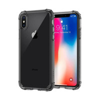 Capdase Crystal Soft Jacket iPhone X - Grey (Free Finger Holder)