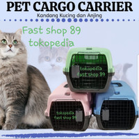 KANDANG KUCING / KANDANG KELINCI/ PET TRAVEL / PET CARGO CARRIER TEBAL