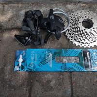Group Set Sepeda Lipat RD Short Cage Pendek 9 Speed Ltwoo