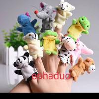 Mainan animal finger 10pcs puppet boneka jari tangan binatang