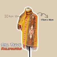Kain_Usang | Syal Tenun Kalimantan | Scraft Tenun Etnik | Tenun Ikat H