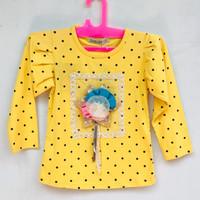 Baju Atasan Anak Perempuan Merk Louisa Warna Kuning 2-3 Tahun