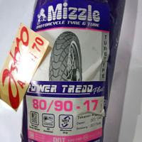 Ban Luar Motor Ring 17 Mizzle, 80/90-17 Power Tread Plus, Non Tubeless