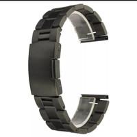 rantai stenlis still hitam tali jam tangan strap jam tangan