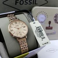 Jam Tangan Wanita Fossil Jacqueline ES-3435 Rose Gold