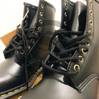 Dr Martens 1460 Black Vegan Felix Rub Off Shoes