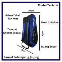 Tas Raket Badminton 3 Resleting Termurah Terlaris Bahan Premium