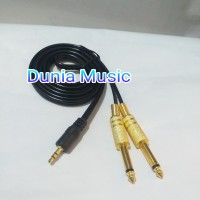 kabel aux hp ke mixer audio 3 5mm to akai paltd Gold 1.5m NEW edition