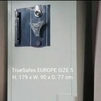 Brankas besar tinggi 179x90x77cm EUROPE 5 Tahan api brangkas TrueSafes
