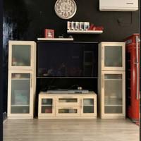 Bufet TV Cabinet Putih Minimalis. Up to TV 65 inch