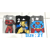 Kaos anak laki 1 tahun amiggos super hero baju brandedsisa eksport