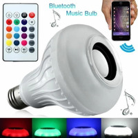 Bohlam Speaker Lampu LED 12W RGBW Bluetooth 2 in 1 + Remote IR ( Ready