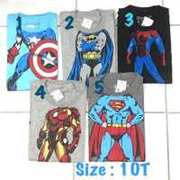 Kaos anak laki 8 tahun amigos super hero baju branded sisa ekspor