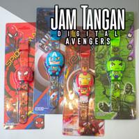 Mainan jam tangan digital anak avengers robot high quality