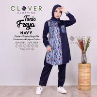 Baju tunik wanita muslim busui motif batik freya ori Clover
