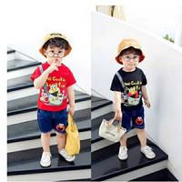 Baju Setelan Anak Laki Laki Import STRIP EL