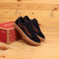 Sepatu Vans Oldskool Navy Gum Original Premium Quality Wafle DT