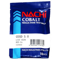 mata bor nachi hss-co twist drill 5.0mm shank drill bits hss cobalt