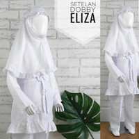(456T) Setelan Baju Putih Anak Perempuan TK 4 5 6 Tahun Dobby Eliza