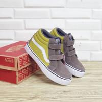Sepatu Anak Vans Sk8 High Brown Suede Premium BNIB