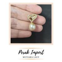 Liontin Love Perak Import Mutiara Laut