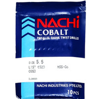mata bor nachi hss-co twist drill 5.5mm shank drill bits hss cobalt