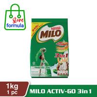 milo active go 3in1 1kg susu bubuk coklat