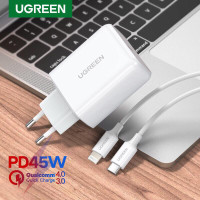 Ugreen 45W Combo Charger+MFI Cable Type C to Lightning White-Com60464