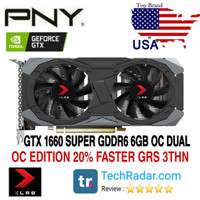 VGA PNY GTX 1660 SUPER OC 6GB DDR6 OC DUAL FAN XLR8 GAMING GRS 3 THN