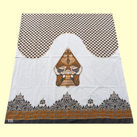Sarung Batik Mahda Motif Wayang Gunungan Warna Hitam Terbaru - Putih