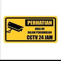 sign plat K3 rambu safety aluminium uk 15x30cm plat area CCTV
